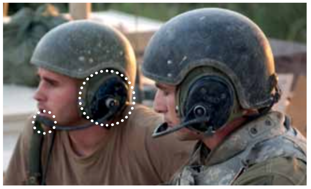 Photo courtesy of Invisio Annual Report 2010. The image shows a traditional circumaural headset.